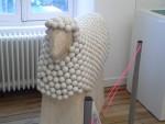 Le mouton d'un artiste, sculpteur réputé, Pierre Manoli