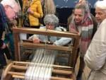 Marie Pierre, tisserande, a passionné les visiteurs de l'exposition